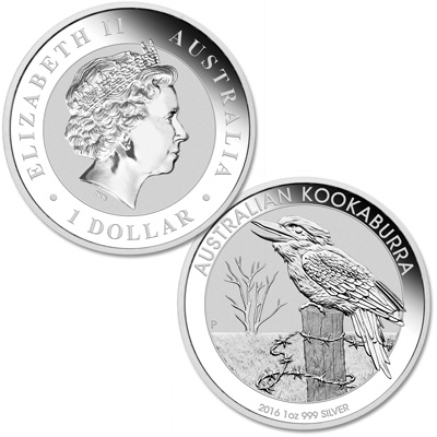 Image for 2016 Australia 1 oz. Silver $1 Kookaburra from Littleton Coin Company