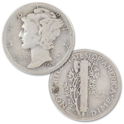 Image for 1928-D Mercury Dime from Littleton Coin Company
