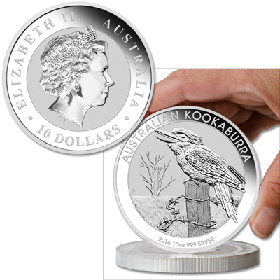 Image for 2016 Australia 10 oz. Silver Kookaburra from Littleton Coin Company