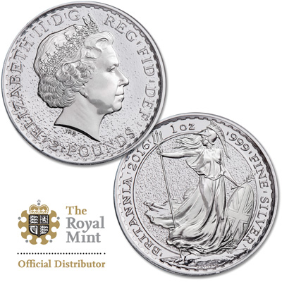 Image for 2016 Great Britain 1 oz. Silver £2 Britannia from Littleton Coin Company