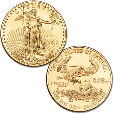 Image for 2016 $50 1 oz. Gold American Eagle from Littleton Coin Company