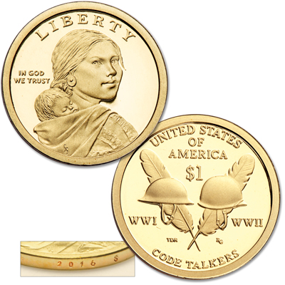 Image for 2016-S Native American Dollar from Littleton Coin Company