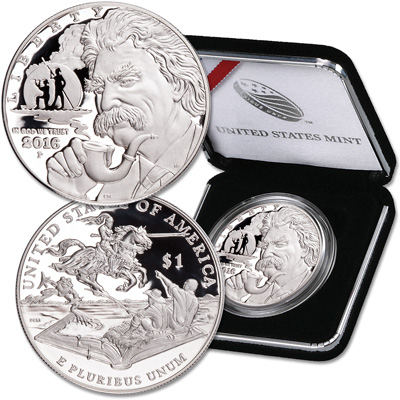 Image for 2016-P Mark Twain Commemorative Silver Dollar from Littleton Coin Company