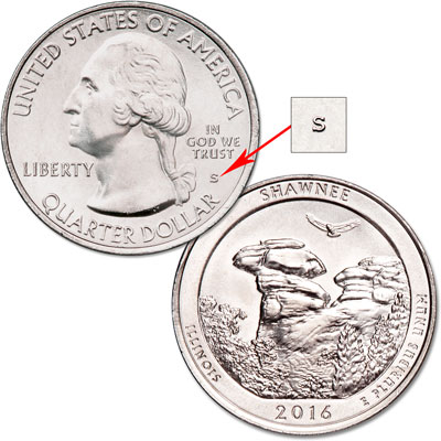 Image for 2016-S Unc. Shawnee National Forest Quarter from Littleton Coin Company