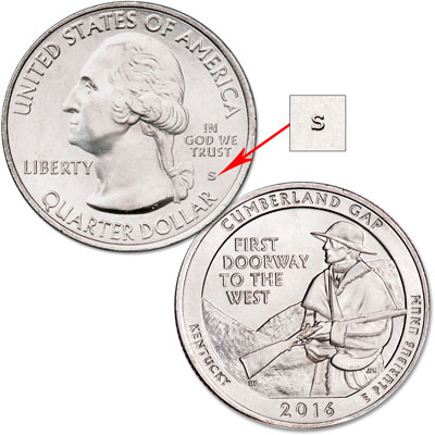 Image for 2016-S Unc. Cumberland Gap National Historical Park Quarter from Littleton Coin Company