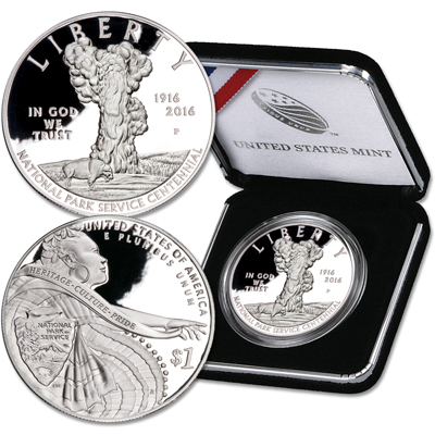 Image for 2016-P National Park Service Commemorative Silver Dollar from Littleton Coin Company