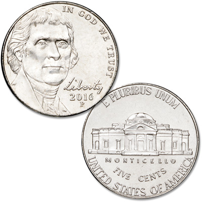 Image for 2016-P Jefferson Nickel from Littleton Coin Company