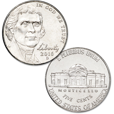 Image for 2016-D Jefferson Nickel from Littleton Coin Company