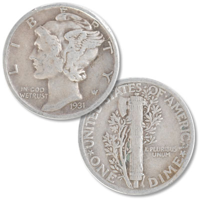 Image for 1931 Mercury Dime from Littleton Coin Company