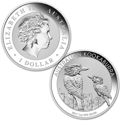 Image for 2017 Australia 1 oz. Silver $1 Kookaburra from Littleton Coin Company
