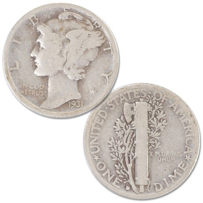Image for 1931-D Mercury Dime from Littleton Coin Company