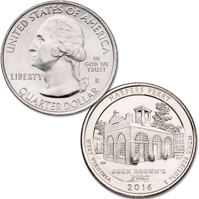 Image for 2016-S Unc. Harpers Ferry National Historical Park Quarter from Littleton Coin Company