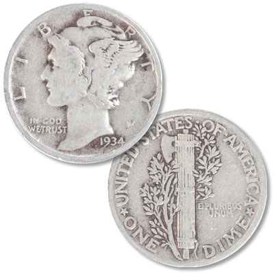 Image for 1934 Mercury Dime from Littleton Coin Company