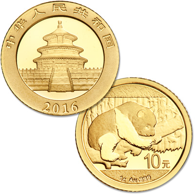 Image for 2016 China 1 gram Gold Panda from Littleton Coin Company