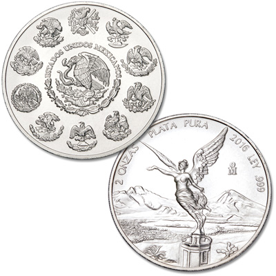 Image for 2016 Mexico 2 oz. Silver Libertad from Littleton Coin Company