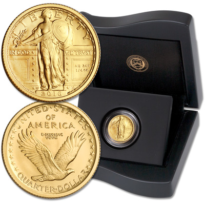 Image for 2016-W Gold Standing Liberty Quarter from Littleton Coin Company