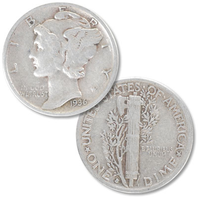 Image for 1936-S Mercury Dime from Littleton Coin Company