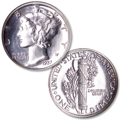 Image for 1937 Mercury Dime from Littleton Coin Company