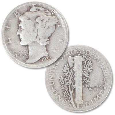 Image for 1937-D Mercury Dime from Littleton Coin Company