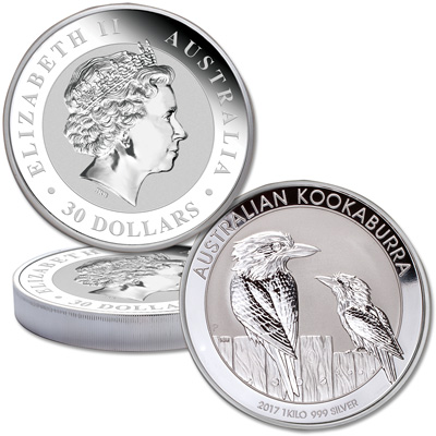 Image for 2017 Australia 1 Kilo Silver Kookaburra from Littleton Coin Company