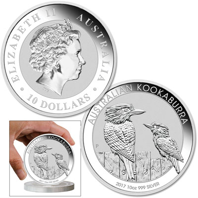 Image for 2017 Australia 10 oz. Silver Kookaburra from Littleton Coin Company
