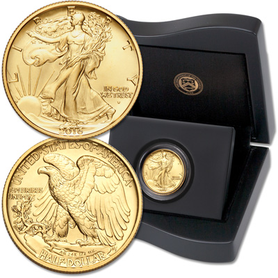 Image for 2016-W Gold Liberty Walking Half Dollar from Littleton Coin Company
