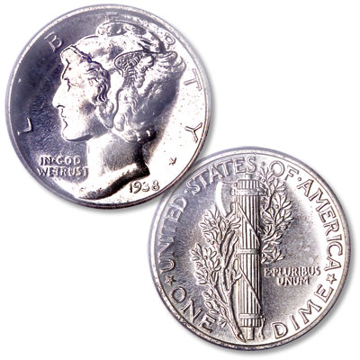 Image for 1938 Mercury Dime from Littleton Coin Company
