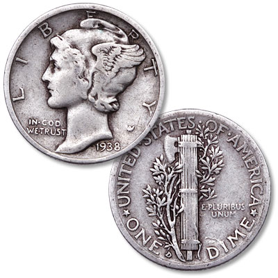 Image for 1938-D Mercury Dime from Littleton Coin Company