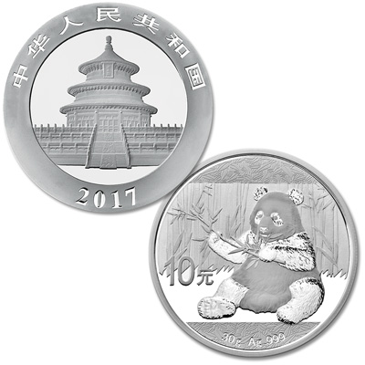 Image for 2017 China Silver 10 Yuan Panda from Littleton Coin Company