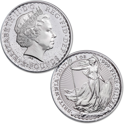 Image for 2017 Great Britain 1 oz. Silver £2 Britannia from Littleton Coin Company