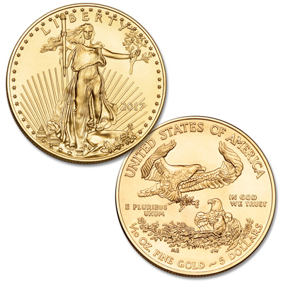 Image for 2017 $5 1/10 oz. Gold American Eagle from Littleton Coin Company