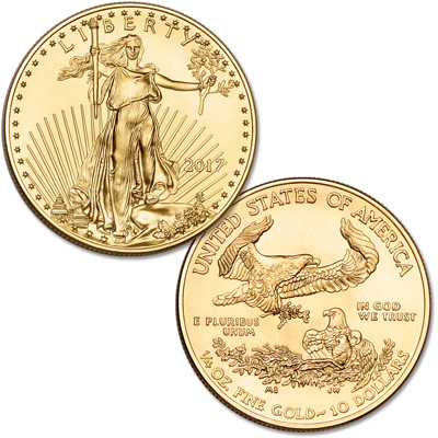 Image for 2017 $10 1/4 oz. Gold American Eagle from Littleton Coin Company