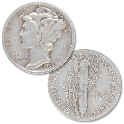 Image for 1939 Mercury Dime from Littleton Coin Company