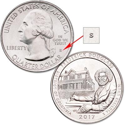 Image for 2017-S Unc. Frederick Douglass National Historic Site Quarter from Littleton Coin Company