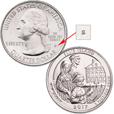 Image for 2017-S Unc. Ellis Island National Monument (Statue of Liberty) Quarter from Littleton Coin Company