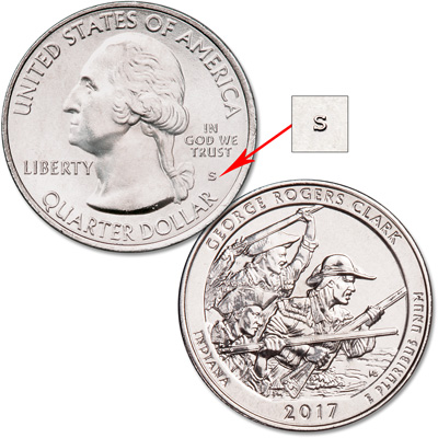 Image for 2017-S Unc. George Rogers Clark National Historical Park Quarter from Littleton Coin Company