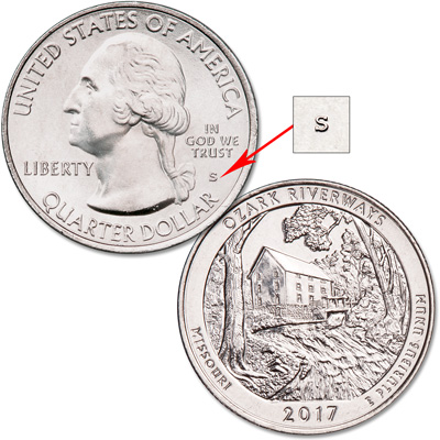 Image for 2017-S Unc. Ozark National Scenic Riverways Quarter from Littleton Coin Company