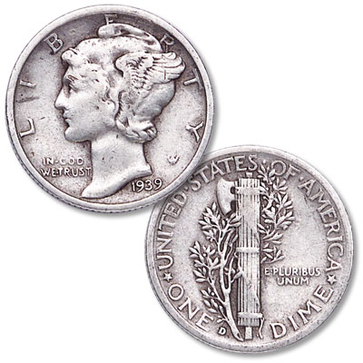 Image for 1939-D Mercury Dime from Littleton Coin Company