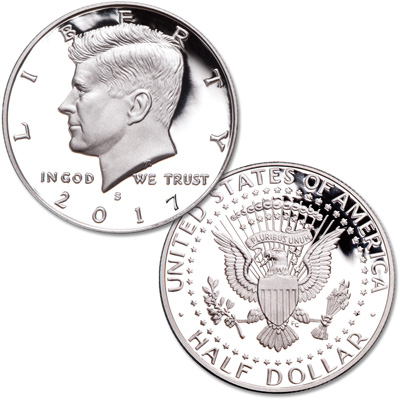Image for 2017-S 90% Silver Kennedy Half Dollar from Littleton Coin Company