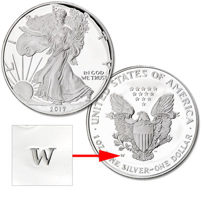 Image for 2017-W Silver American Eagle from Littleton Coin Company