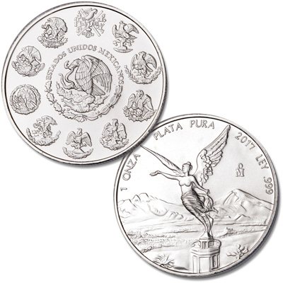 Image for 2017 Mexico 1 oz. Silver Libertad from Littleton Coin Company