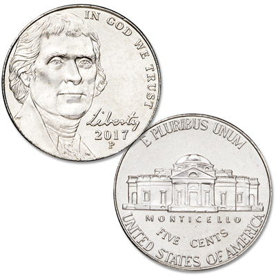 Image for 2017-P Jefferson Nickel from Littleton Coin Company