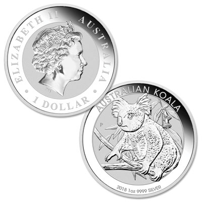 Image for 2018 Australia Silver $1 Koala from Littleton Coin Company