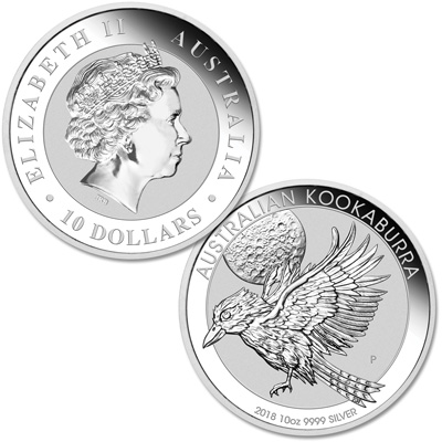 Image for 2018 Australia 10 oz. Silver Kookaburra from Littleton Coin Company
