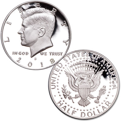 Image for 2018-S 90% Silver Kennedy Half Dollar from Littleton Coin Company
