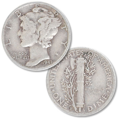 Image for 1941-D Mercury Dime from Littleton Coin Company