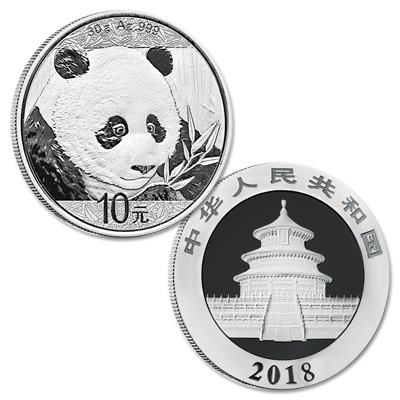 Image for 2018 China Silver 10 Yuan Panda from Littleton Coin Company