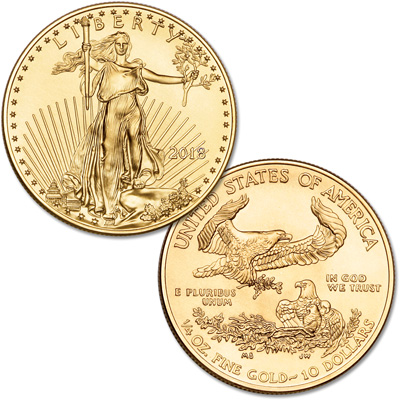 Image for 2018 $10 1/4 oz. Gold American Eagle from Littleton Coin Company