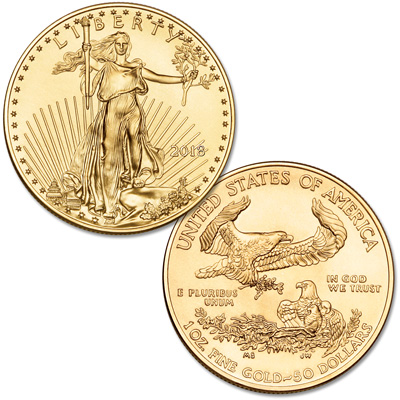 Image for 2018 $50 1 oz. Gold American Eagle from Littleton Coin Company