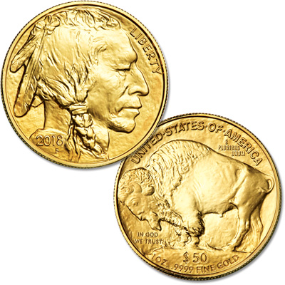 Image for 2018 $50 1 oz. Gold American Buffalo from Littleton Coin Company